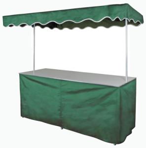 Falttisch mit grüner Verkleidung