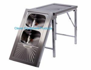 Edelstahl tisch faltbar mit Spülbecken