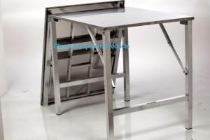 Schwere Edelstahl Tisch faltbar