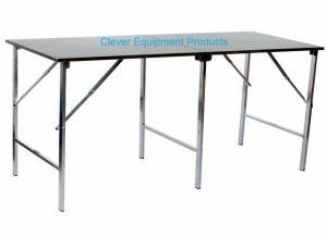 Edelstahl Tisch faltbar 2