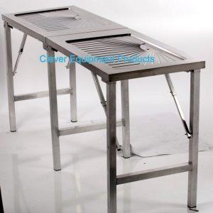 Edelstahl tisch faltbar mit Abfluss