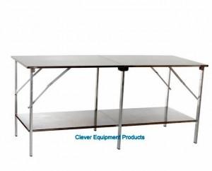 Edelstahl Tisch mit Plateau doppelt CEP 80250
