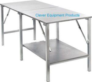 Edelstahl Tisch mit extra Bord