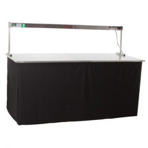 Tisch mit Warmhaltebrücke Standard
